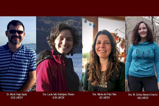 De izquierda a derecha: Dr. Mario Hugo Ayala, Dra. Lucía Inés Rodríguez Planes; Dra. María del Pilar Ríos y la Dra. María Celina Álvarez Soncini