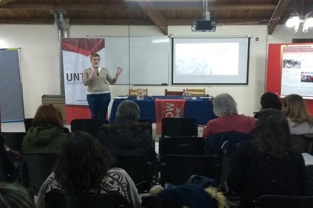 La UNTDF presentó experiencias y resultados logrados en el campo extensionist