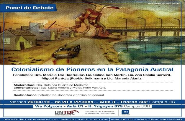 La UNTDF expondrá sobre el colonialismo en la Patagonia Austral