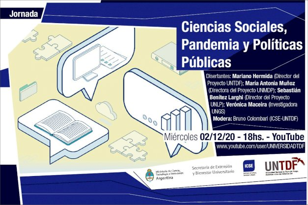 La UNTDF brindará una Jornada sobre Ciencias Sociales, Pandemia y Políticas Públicas
