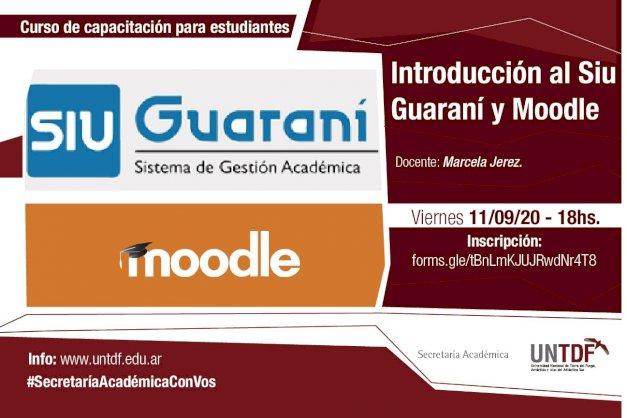 """La UNTDF dictará la capacitación en línea """"Introducción al SIU Guaraní y Moodle"""""""