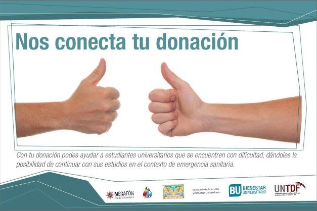 """Impulsan la acción solidaria """"Nos conecta tu donación"""""""